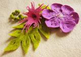 Цветок. Валяние шерсти