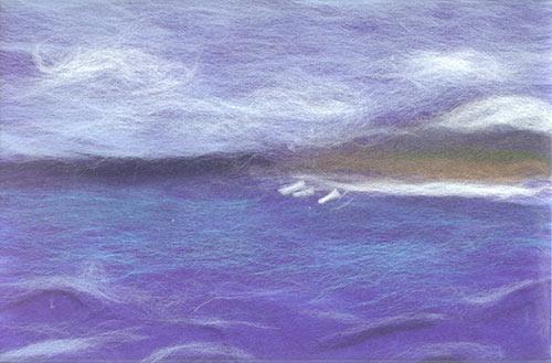 валяние из шерсти картины: