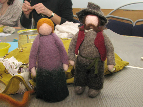 Куклы, валяные из шерсти